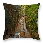 Looking Down Flume Gorge Throw Pillow