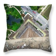 Looking Down From The Eiffel Tower Throw Pillow