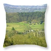 Looking Down On Cotton From Ribdon Throw Pillow