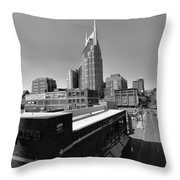 Looking Down On Nashville Throw Pillow