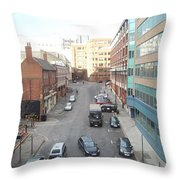 Looking Down On Newport Throw Pillow