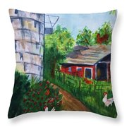 Looking Down On The Farm Throw Pillow