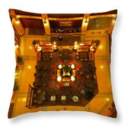 Looking Down On The Reception Desk Throw Pillow