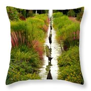 Looking Down Reflection Canal Throw Pillow