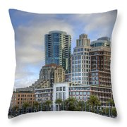 Looking Downtown Throw Pillow
