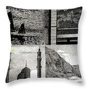 Looking East Throw Pillow