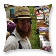 Amish In The City Throw Pillow