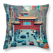 Looking For Chinatown Throw Pillow