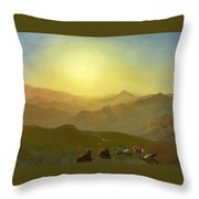Looking From The Shade On Clay Hill .sunset Clay Street Hill San Francisco Throw Pillow