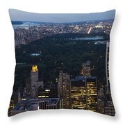 Looking From Top Of The Rock Throw Pillow
