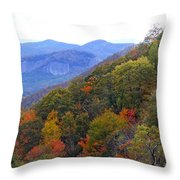 Looking Glass Rock And Fall Colors Throw Pillow