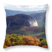 Looking Glass Rock And Fall Folage Throw Pillow
