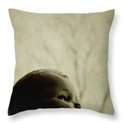 Looking Into The Distance Throw Pillow