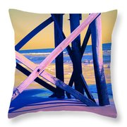 looking On - Neon Throw Pillow