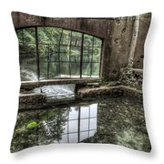 Looking Out 2 - Paradise Springs Spring House Interior  Throw Pillow