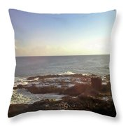 Looking Out Over The Ocean Throw Pillow