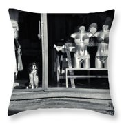 Looking Out The Shoppe Throw Pillow