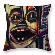 Looking Out The Window And Having A Laugh Throw Pillow