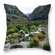 Looking Over Ouray From The Sutton Mine Trail Circa 1955 Throw Pillow