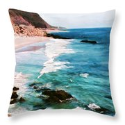 Looking South On The Northern California Coast Throw Pillow