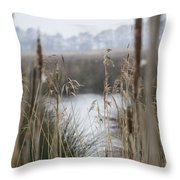 Looking Through The Reeds Throw Pillow