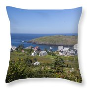 Looking To Port Throw Pillow
