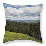Looking To The Canyon - Yellowstone Throw Pillow