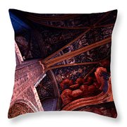 Looking Up Albi Cathedral Throw Pillow