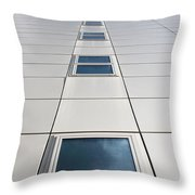 Looking Up At A Modern Building Throw Pillow