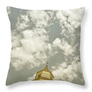 Looking Up At Heaven Throw Pillow