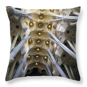 Looking Up At The Sagrada Familia In Barcelona Throw Pillow