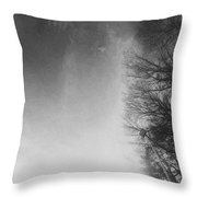 Looking Up At The Sky While Driving Throw Pillow