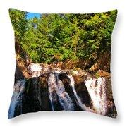 Looking Up At Victoria Falls Throw Pillow