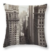 Looking Up Broadway In Nyc Throw Pillow