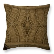Looking Up King's College Throw Pillow