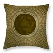Looking Up Capitol Dome Throw Pillow