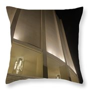 Looking Up Founders Hall At Night Throw Pillow