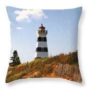 Looking Up From The Dunes At West Point Light Throw Pillow