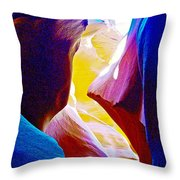 Looking Up In Lower Antelope Canyon In Lake Powell Navajo Tribal Park-arizona  Throw Pillow