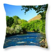 Looking Up Pine Creek Throw Pillow