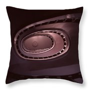 Looking Up Spiral Stair 2 Throw Pillow