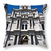 Looking Up St Louis Cathedral Throw Pillow