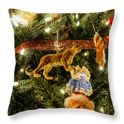 Looking Up The Christmas Tree Throw Pillow