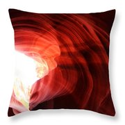 Looking Up Through Antelope Canyon Throw Pillow