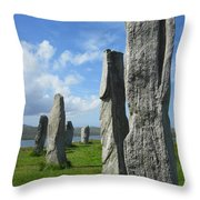 Looking West At Callanish Throw Pillow