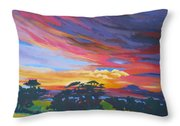 Looking West From Amador Hills Throw Pillow by Vanessa Hadady BFA MA