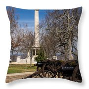 Lookout Mountain Peace Monument 2 Throw Pillow