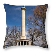 Lookout Mountain Peace Monument 4 Throw Pillow