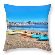 Looks And Feels Like Summer Throw Pillow by Heidi Smith