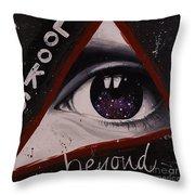 Looks Beyond Throw Pillow